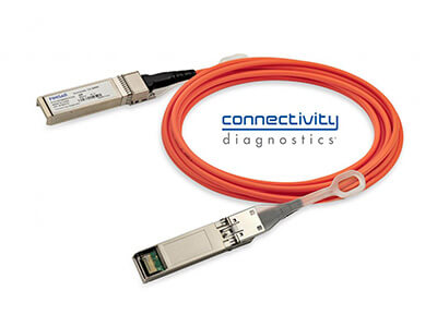 25G SFP+ Active Optical Cable with Connectivity Diagnostics